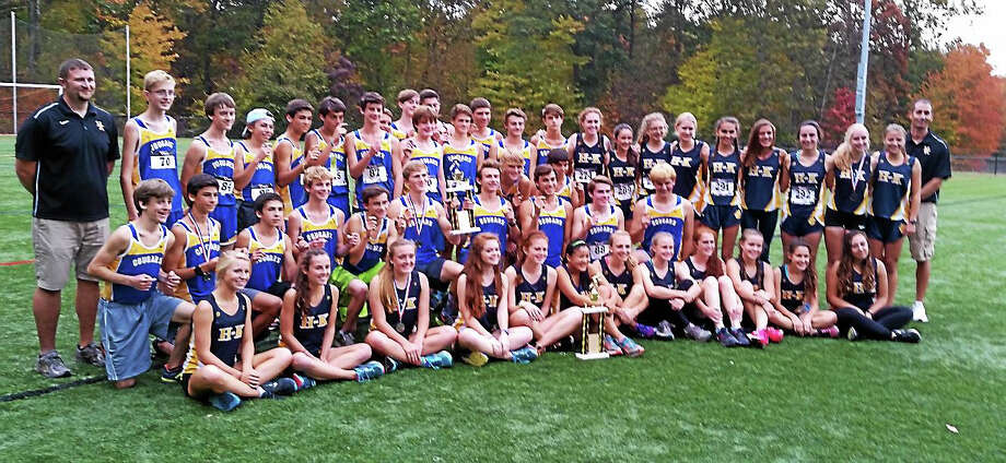 Jimmy Zanor - Middletown PressThe Haddam-Killingworth boys and girls cross country teams each captured SLC championships on Thursday. Photo: Journal Register Co.