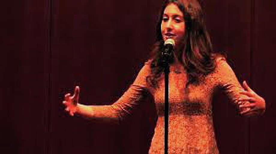 "A screen shot of Lily Myers from her YouTube video of her poem ""Shrinking Women."" Photo: Journal Register Co."