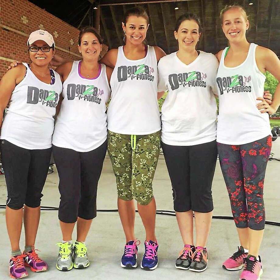 Danza Fitness on Saybrook Road in Middletown is celebrating a year in business. Shown from left are: Clients Lillian Ulan and Christina Lardizzone, owner Danielle Rich, and instructors Briana O'Leary and Sabrina Crim. Photo: Courtesy Photos