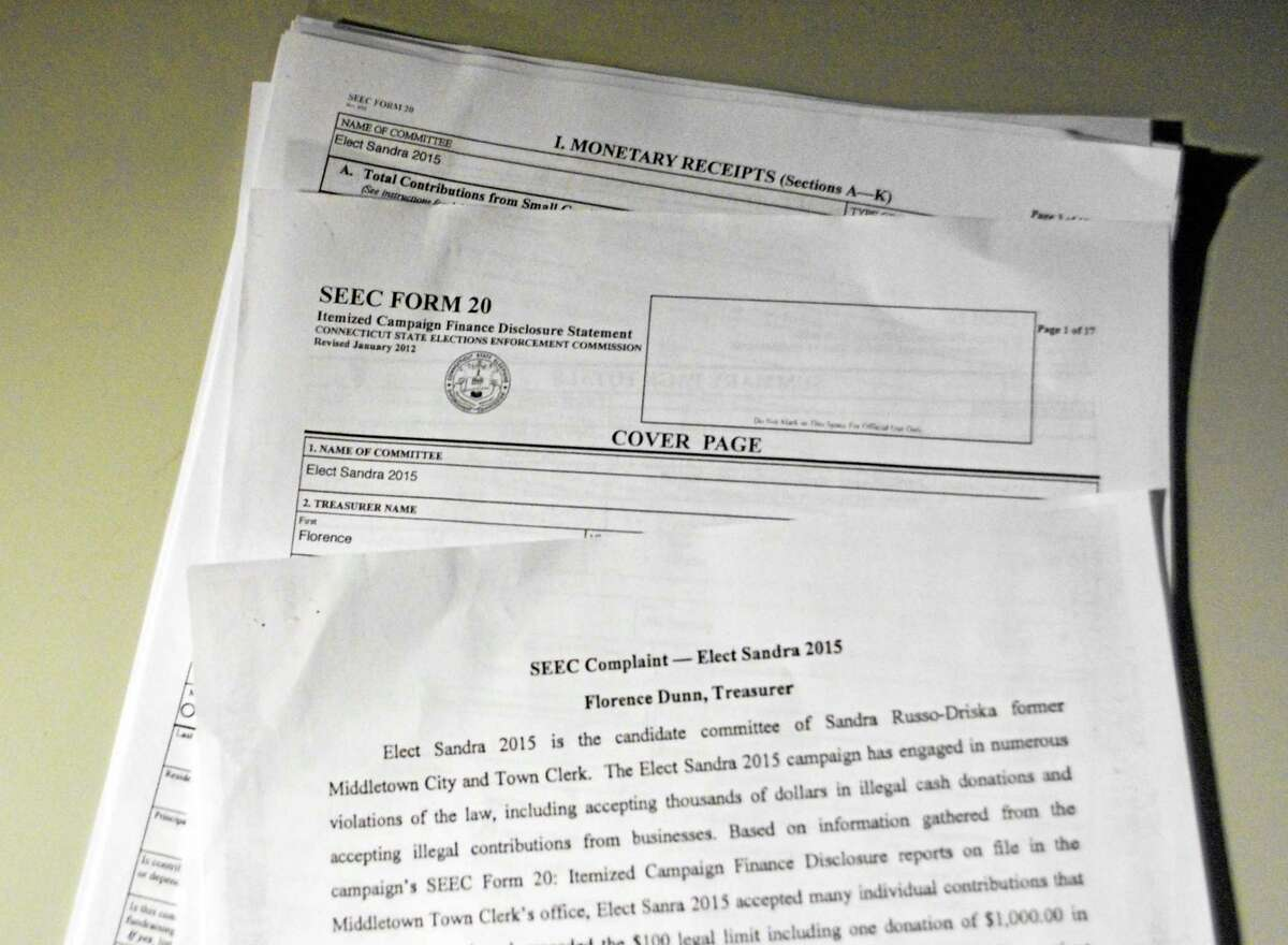 Documents are filed with the State Elections Enforcement Commission about improprer cash donations allegedly collected by the Sandra Russo-Driska campaign. The Republican common councilwoman's camp filed a similar claim this week with the oversight agency.