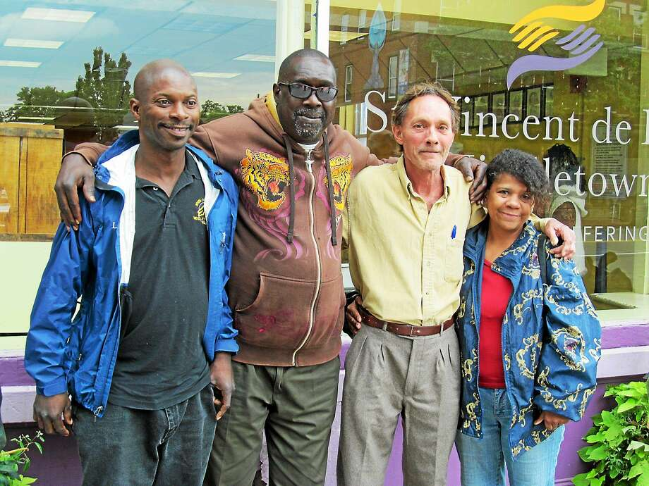 Members Of The Community Who Visit The St. Vincent De Paul Soup Kitchen On  Main