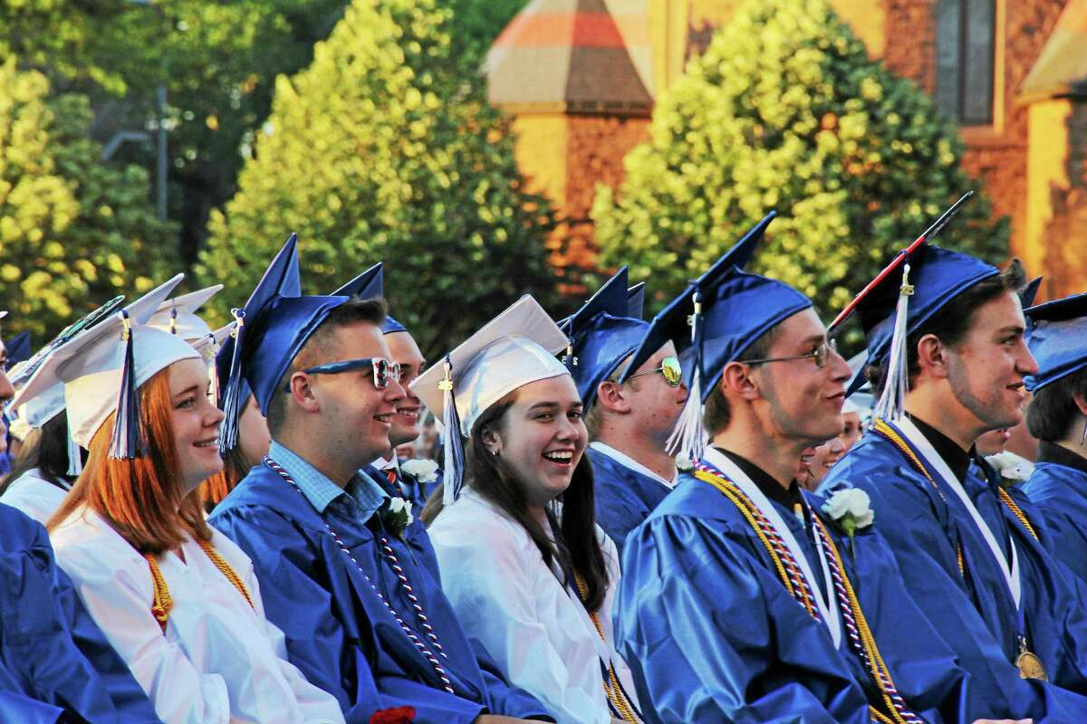 Coginchaug Regional High School's Class of 2015 graduated under clear blue skies Wednesday at Wesleyan University.