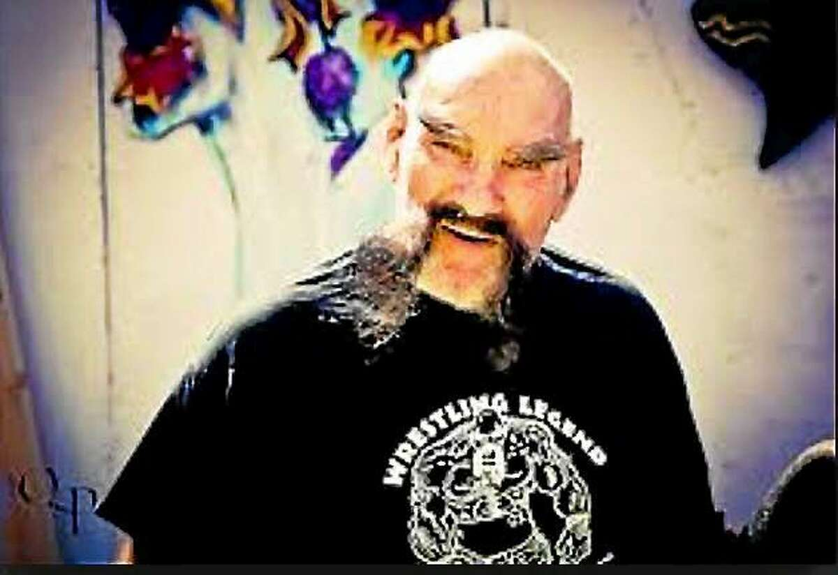 Pro wrestlers Ox Baker and Bob Backlund at Wild Bill's Nostalgia Center on Oct. 13. Baker, who died Oct. 20, will be honored at a memorial at Wild Bill's fun house on Nov. 2 in Middletown.