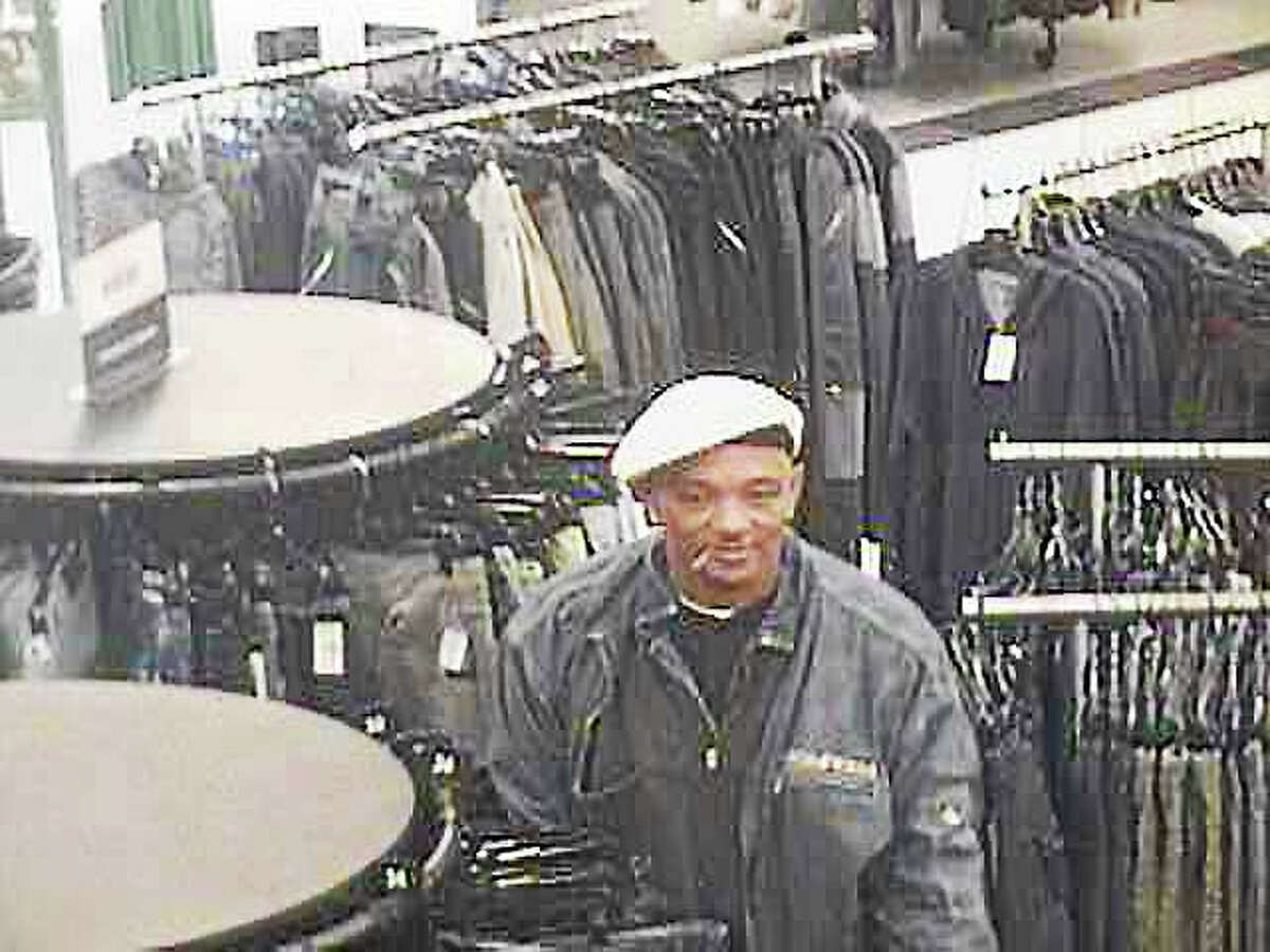 Police in Clinton are asking the public to help them identify this man, who allegedly stole items Tuesday from a store at Clinton Crossing and then fled in a vehicle stolen in New Haven.