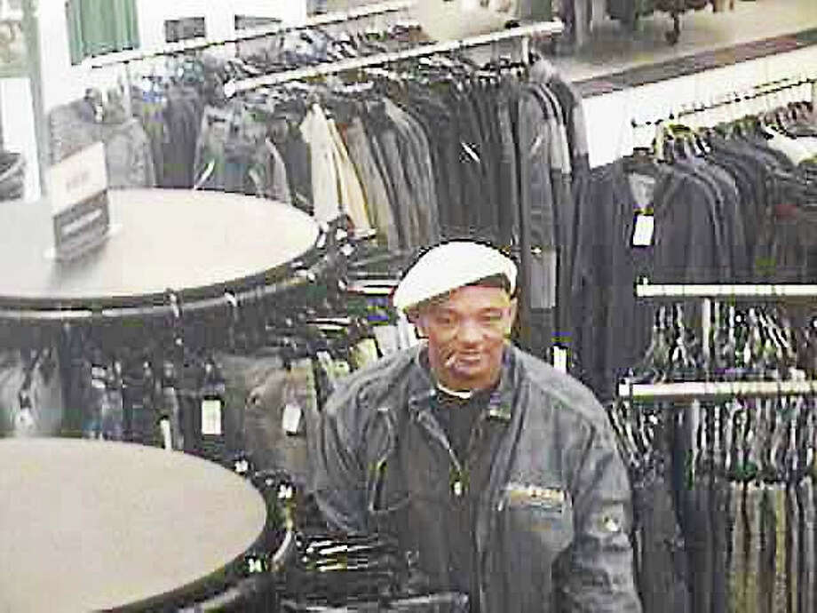 Police in Clinton are asking the public to help them identify this man, who allegedly stole items Tuesday from a store at Clinton Crossing and then fled in a vehicle stolen in New Haven. Photo: Courtesy Clinton Police
