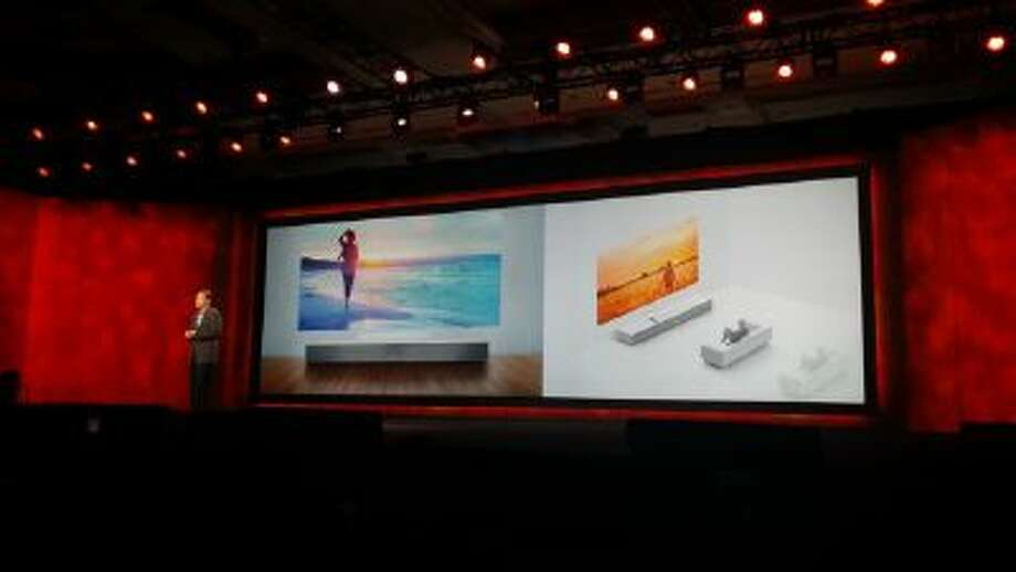Sony Ultra Short Throw Projector shown at the Consumer Electronics Show 2014.