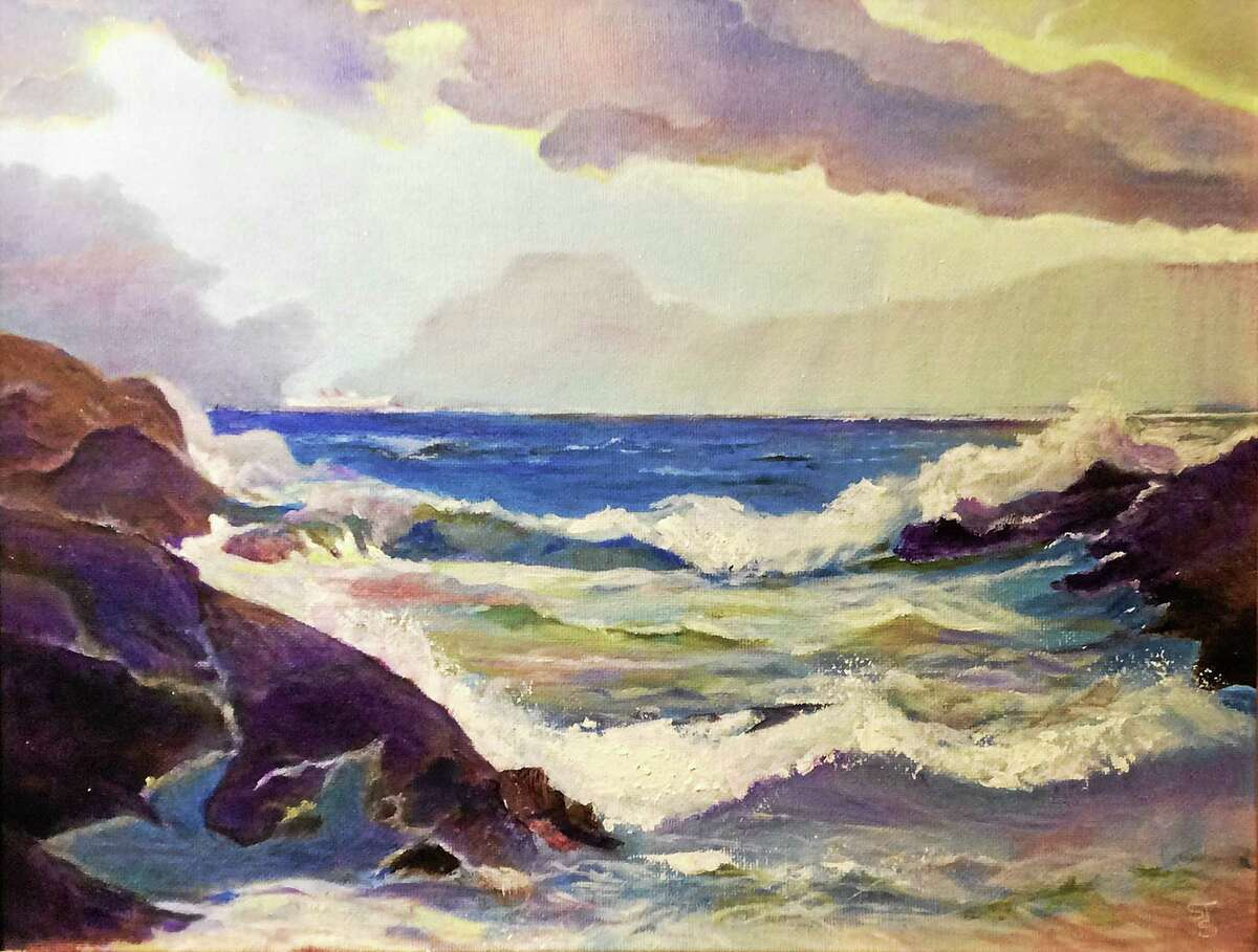 Contributed photo courtesy of the artist Susan Simler, Crashing Waves, wiill be part of a new exhibit at the Zahn Community Gallery in Westbrook.
