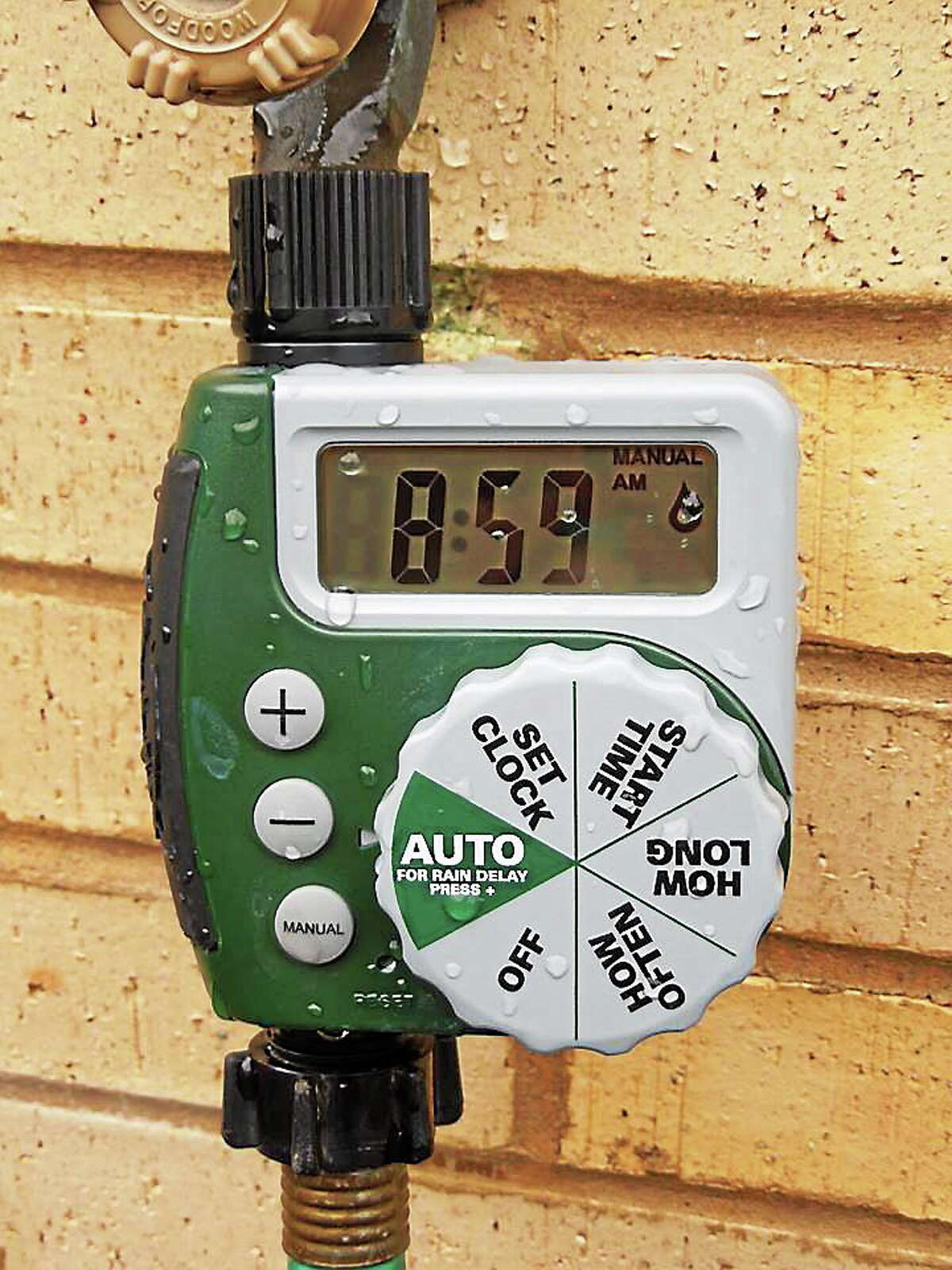 Courtesy photo Sowing Seeds at Moody School in Middletown now has the latest technology introduced to the courtyards: A water timer.