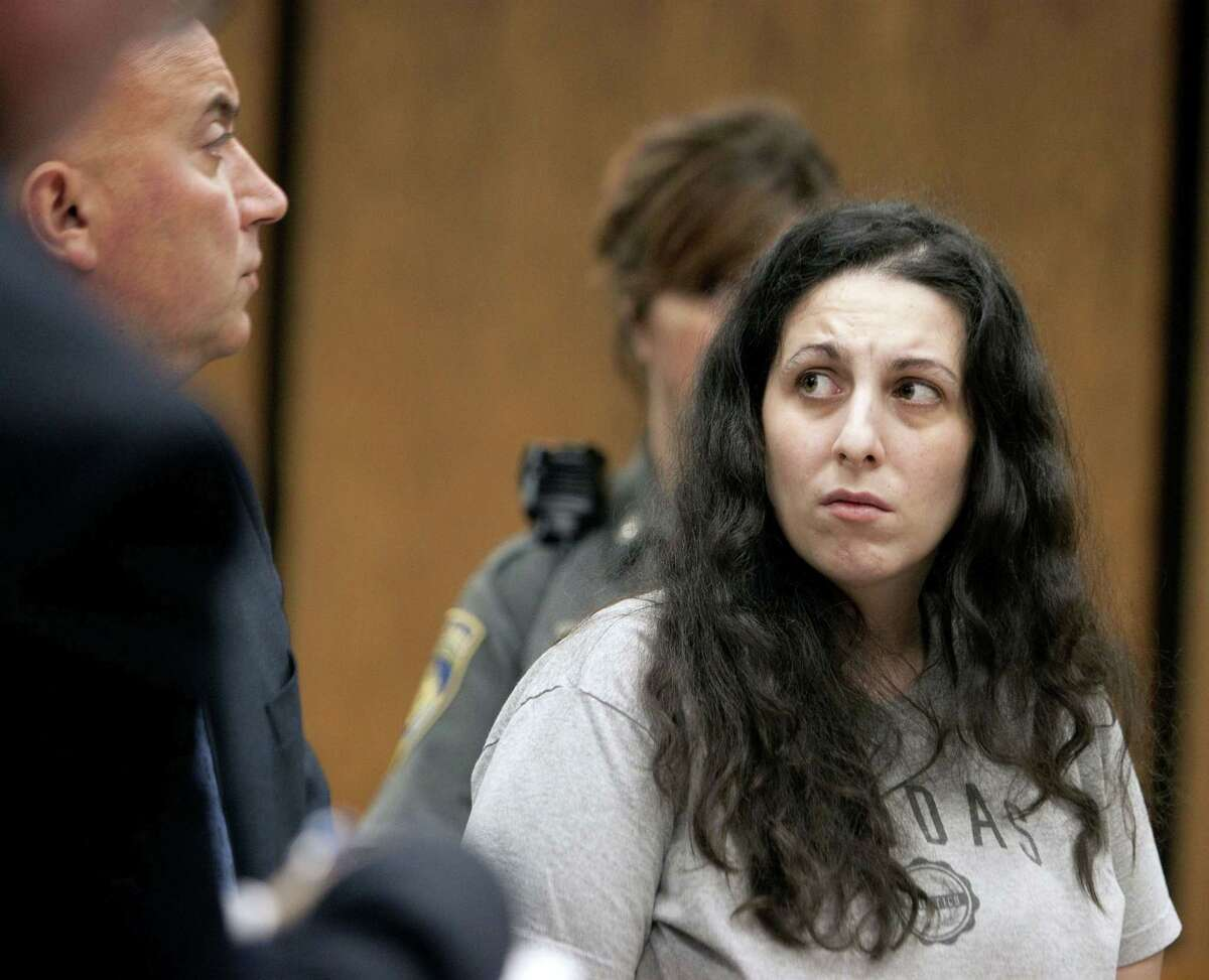 Rebekah Robinson of Terryville is arraigned on a charge of manslaughter in Bristol Superior Court Wednesday, June 24, 2015, in Bristol, Ct. Robinson has been charged with manslaughter in the death of her 2-year-old daughter, who was found to have a drug used to treat opioid addiction in her system.
