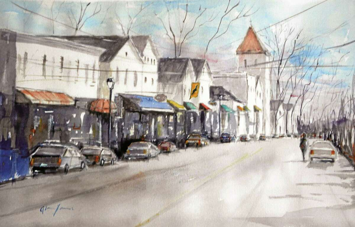 """Contributed photo """"Main Street Essex"""" by Alan James, the July artist at the Essex Library."""