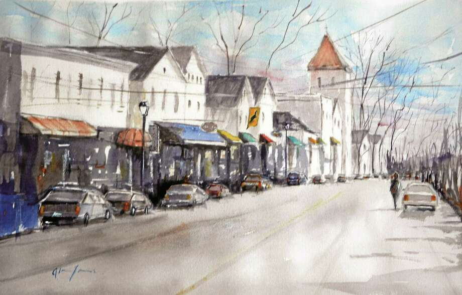 "Contributed photo ""Main Street Essex"" by Alan James, the July artist at the Essex Library. Photo: Journal Register Co."