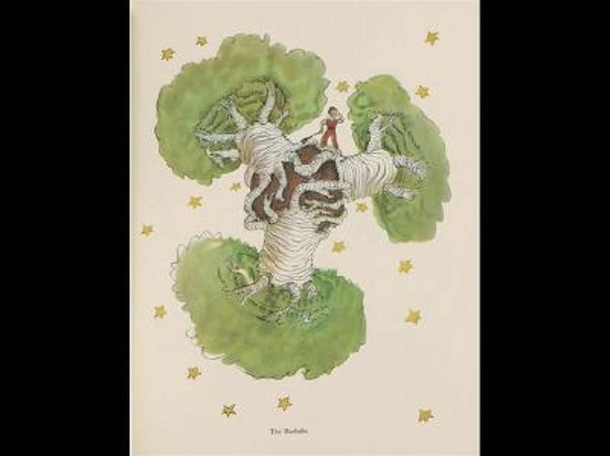 """This undated photo provided by the Morgan Library and Museum shows a drawing from Antoine de Saint-Exupery's beloved children's tale """"The Little Prince,"""" which is the subject of a major exhibition at the Morgan Library and Museum in New York on the 70th anniversary of the book's publication."""