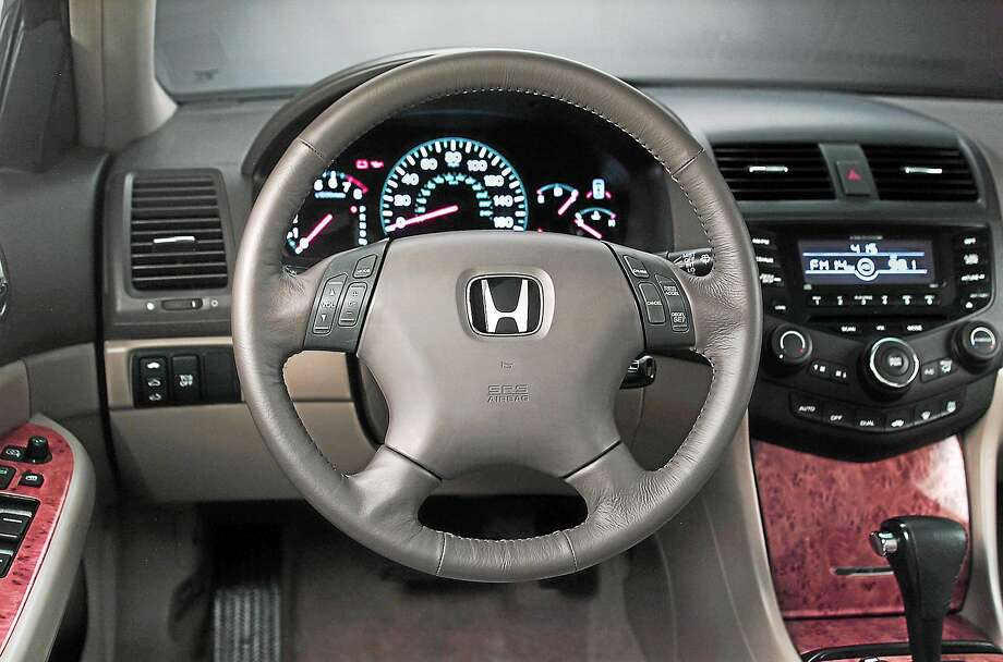 This photo released by Honda shows the interior of a 2004 Honda Accord. This model is among those being recalled for repair of faulty air bag inflators. Photo: AP Photo/Honda  / HONDA