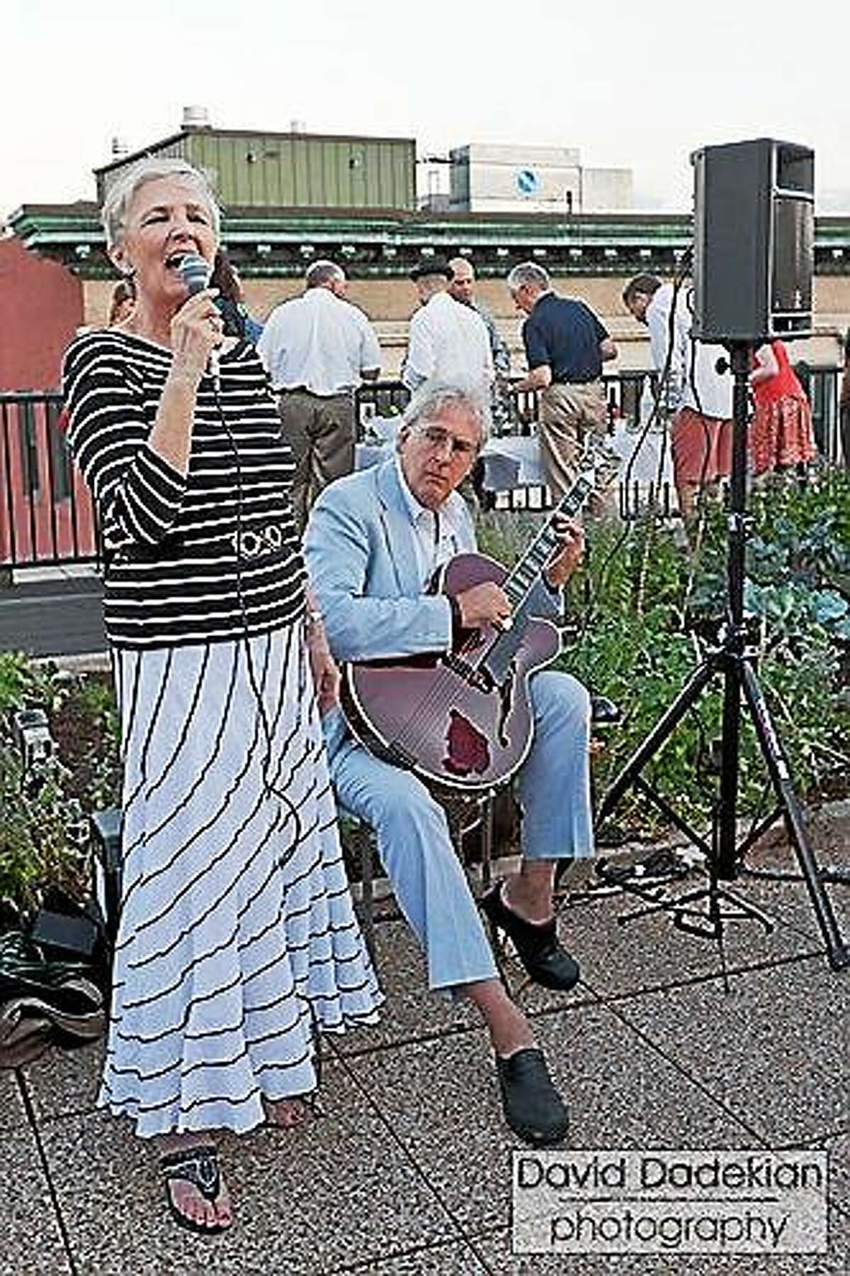 Photo by David Dadekian Photography Guilford singer Julie Harris and guitarist Steven Roane will perform outside on the library patio on Thursday, June 25 at 7 p.m.
