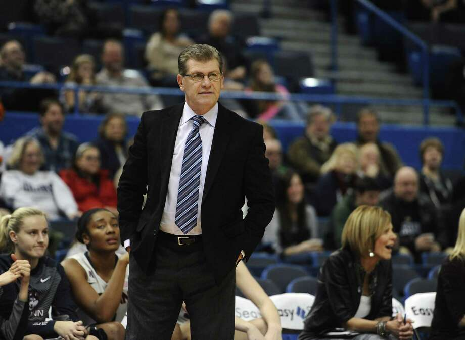 Geno Auriemma and UConn will take on Tulsa on Saturday in Oklahoma. Photo: Jessica Hill — The Associated Press File Photo  / FR125654 AP