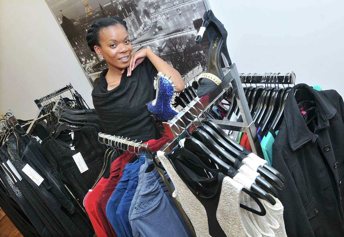 January King, owner of Signature for Women, a boutique for the fashion forward at 84 Court Street in Middletown opened November 30. Catherine Avalone - The Middletown Press