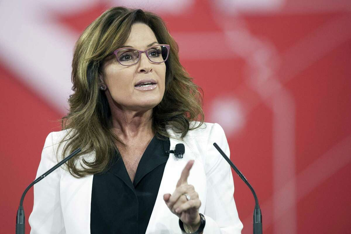 FILE- In this Feb. 26, 2015 file photo, former Alaska Gov. Sarah Palin speaks during the Conservative Political Action Conference (CPAC) in National Harbor, Md. Fox News Channel said Wednesday, June 24, 2015, that it was not renewing Palin's contract as a contributor. The professional divorce, first reported in Politico, was described as amicable. (AP Photo/Cliff Owen, File)