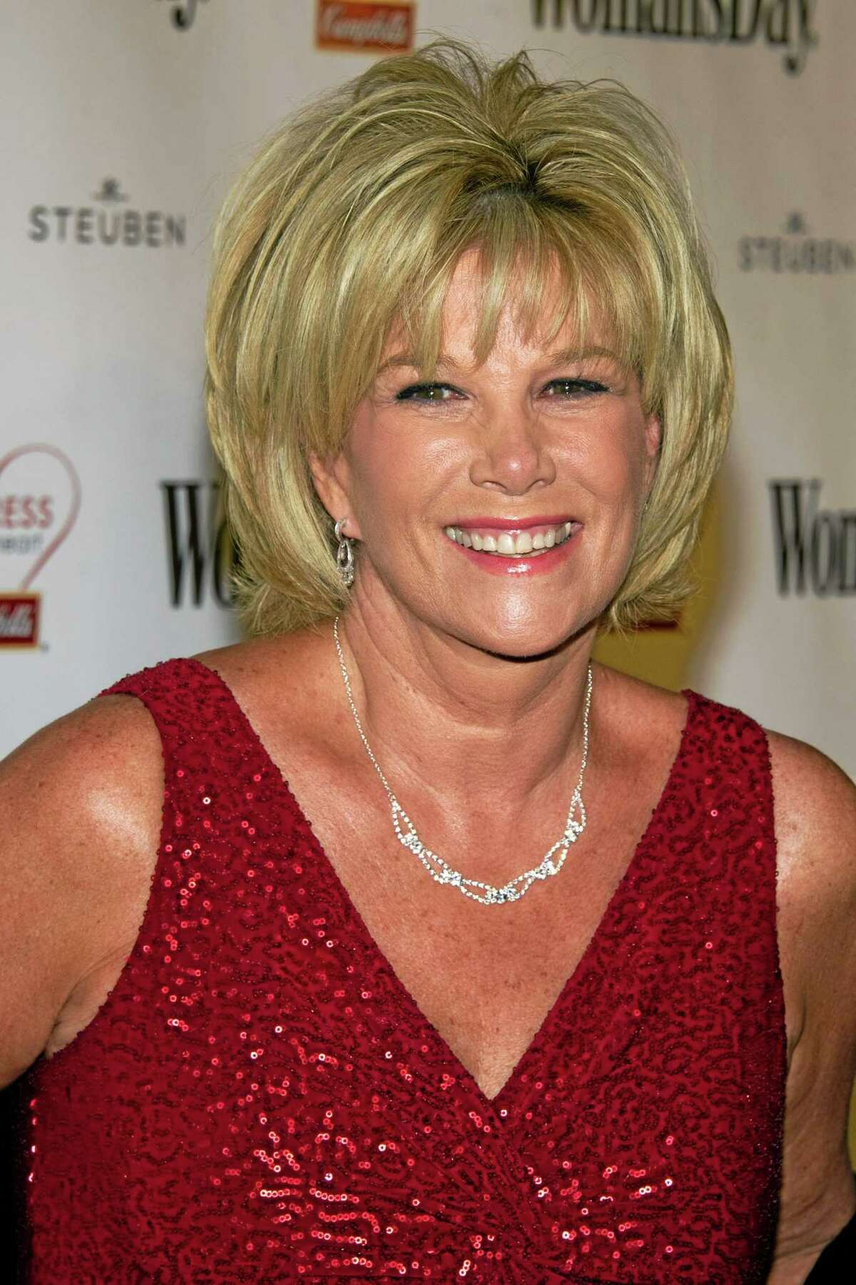 """This Feb. 8, 2011 photo, Joan Lunden attends Womanís Day magazineís Eight Annual Red Dress Awards in New York. Lunden, the former """"Good Morning America"""" host says she has breast cancer. She revealed her diagnosis on Tuesday, June 24, 2014 on """"Good Morning America."""" She spoke with """"GMA"""" hosts Robin Roberts and Amy Robach, both of whom have also been treated for breast cancer recently.(AP Photo/Charles Sykes)"""