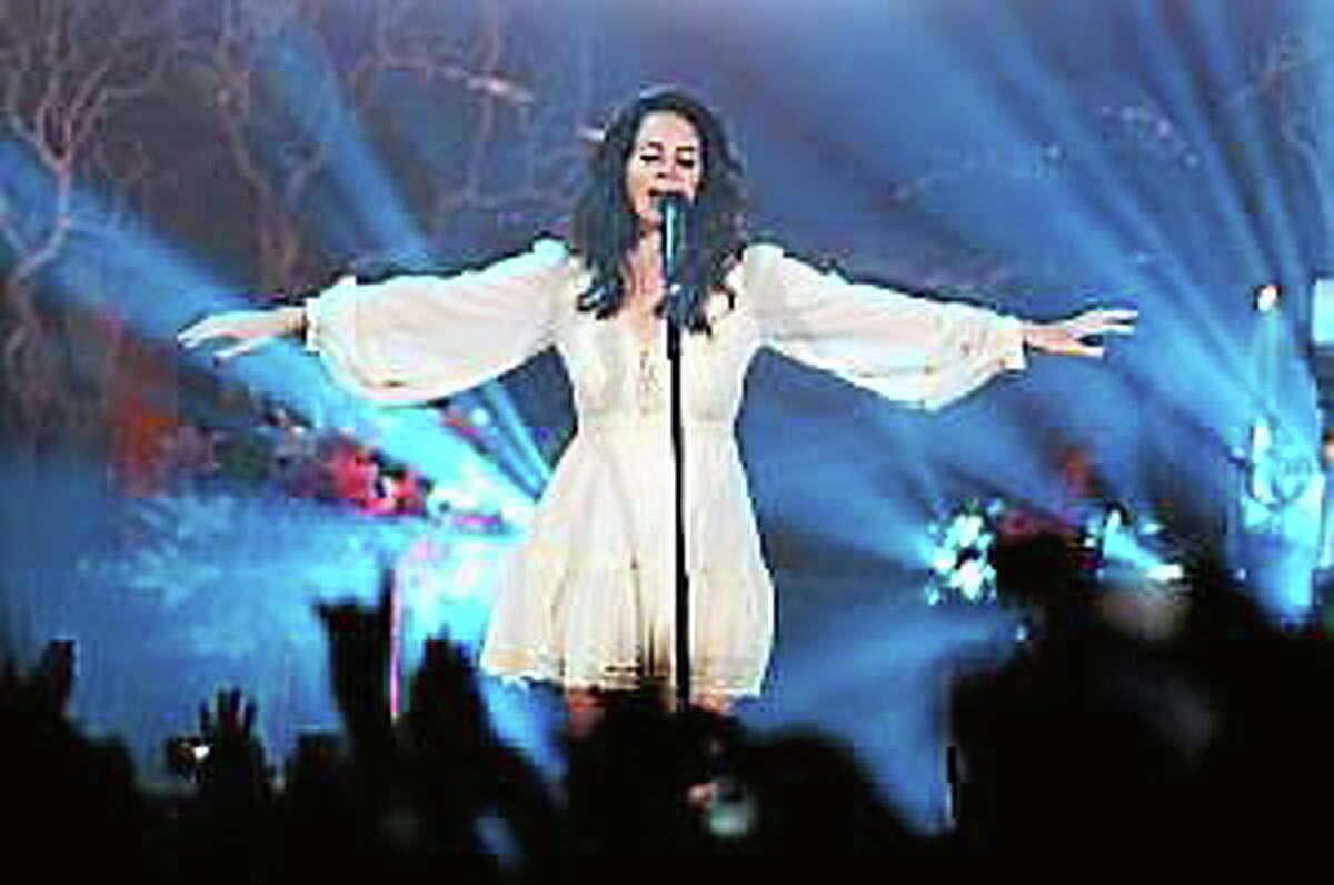Lana Del Rey performs in concert at Bill Graham Civic Auditorium in San Francisco, Calif., on Friday, April 18, 2014.