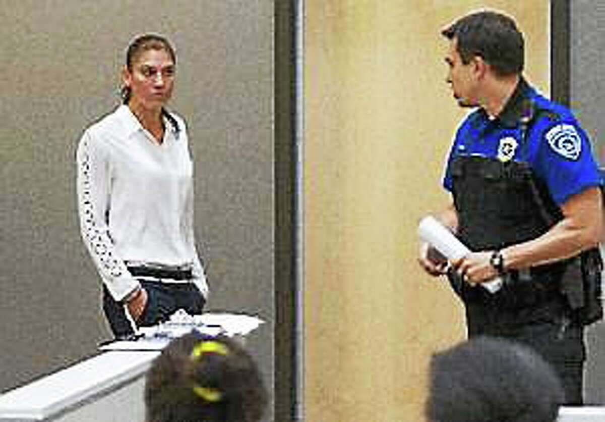 Hope Solo appears in Kirkland Municipal Court on Monday, June 23, 2014, in connection with her domestic violence arrest at her sister's home in Kirkland, Wash.