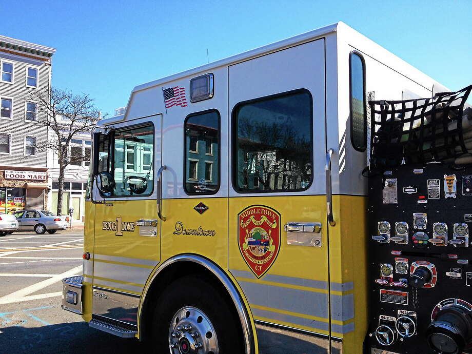 Middletown Fire Department's Engine 1. Photo: Cassandra Day--The Middletown Press