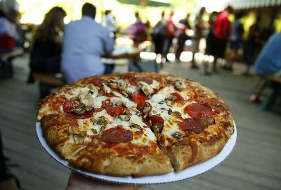 The Pizza Deck at Camp Curry offers an alternative to the buffet line and traditional camp food in Yosemite National Park, May 21, 2013. Photo: MCT / Los Angeles Times