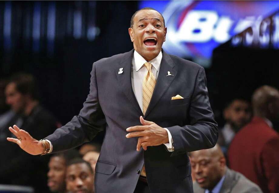 Nets head coach Lionel Hollins reacts in the second half of Monday's preseason game against the Philadelphia 76ers at the Barclays Center in New York. Photo: Kathy Willens — The Associated Press  / AP