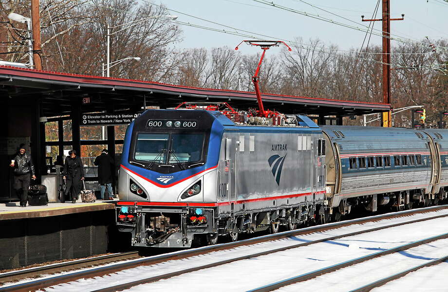 One of Amtrak's new ACS-64 electric locomotives, also known as the Cities Sprinter is pictured on its first run in regular service, from Boston to Washington on Feb. 7, 2014. Photo: AP Photo/David Boe  / AP