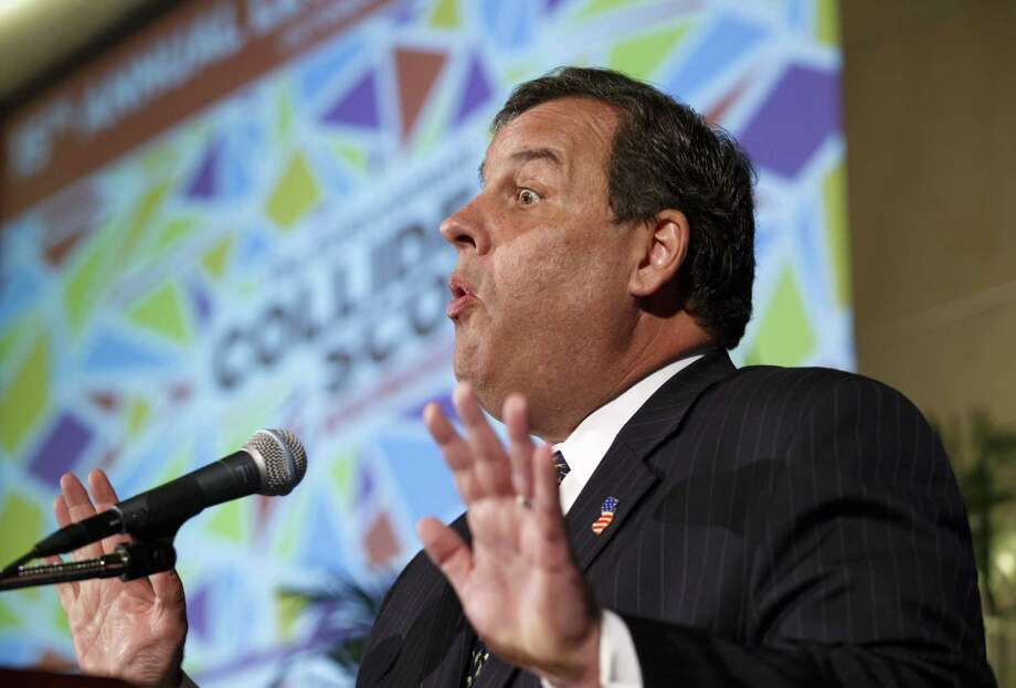 New Jersey Gov. Chris Christie delivers the keynote address at the U.S. Chamber of Commerce's 15th annual Legal Reform Summit on Tuesday in Washington. Photo: J. Scott Applewhite — The Associated Press  / AP