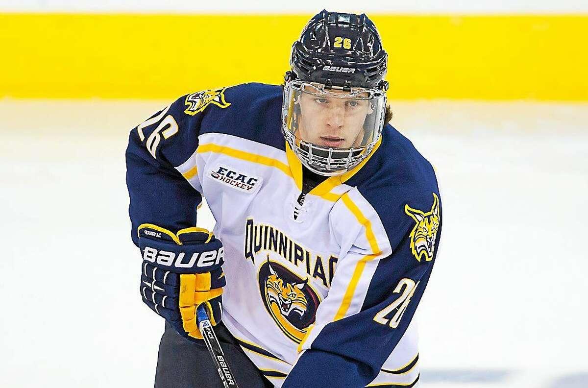 Quinnipiac junior Travis St. Denis has five game-winning goals in ECAC Hockey action this season.