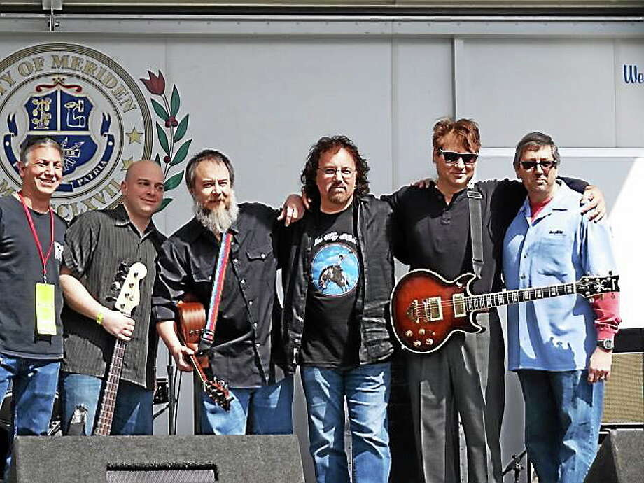 From left are: Gary Gone of CygnusRadio.com, Don Horton, Frank Critelli, Mark Mirando, Bumpy Chimes and Jim Stavris. Photo: Peter Grennen - Special To The Press