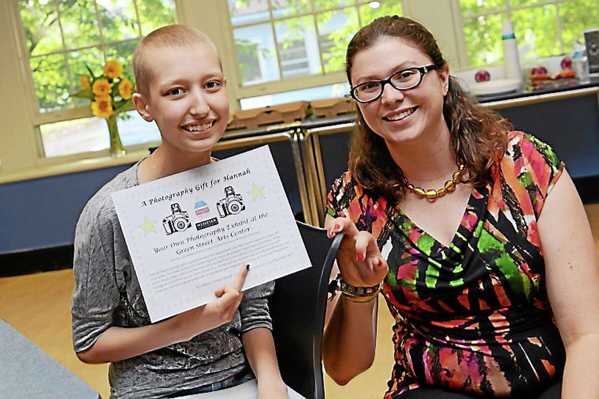 Hannah Vecchitto, 14, of Middletown, was granted her wish of becoming a photographer by the Make-a-Wish Foundation of Connecticut.