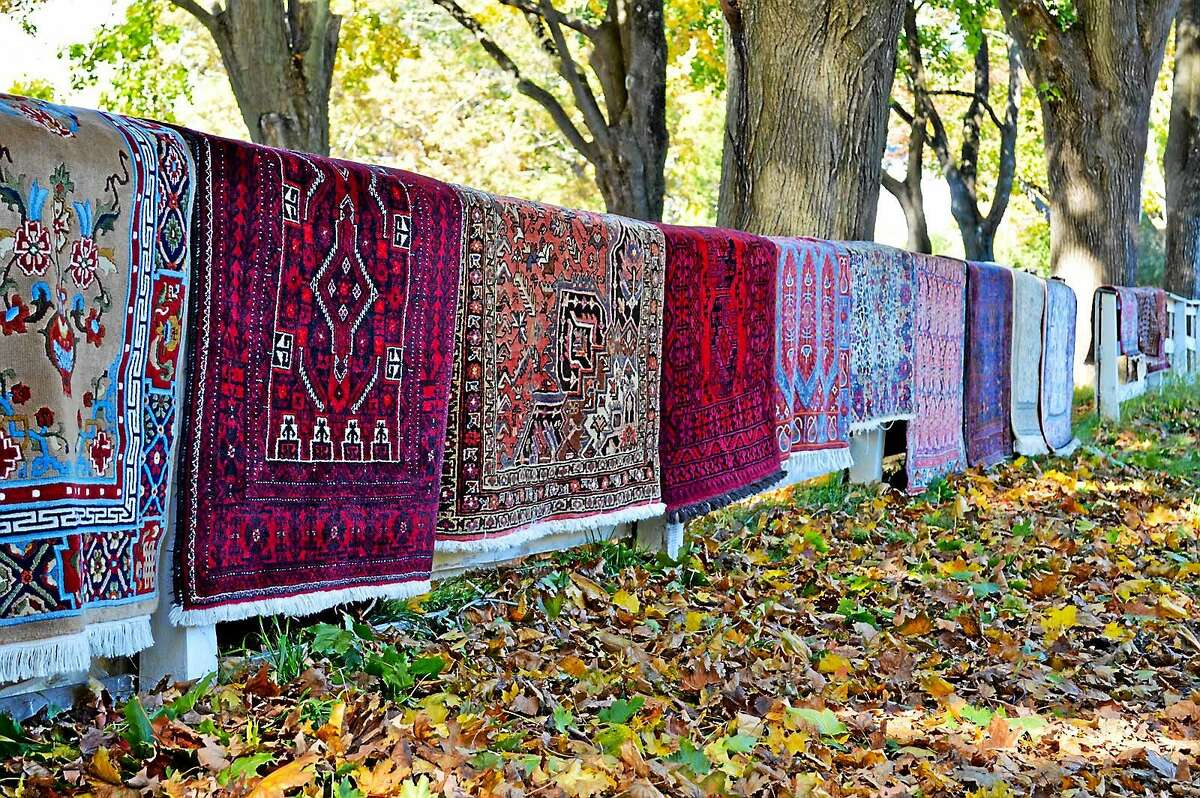 Barberry Hill Farm in Madison sells more than pumpkins in the fall — it's an Oriental rug farm on dry weekend days.