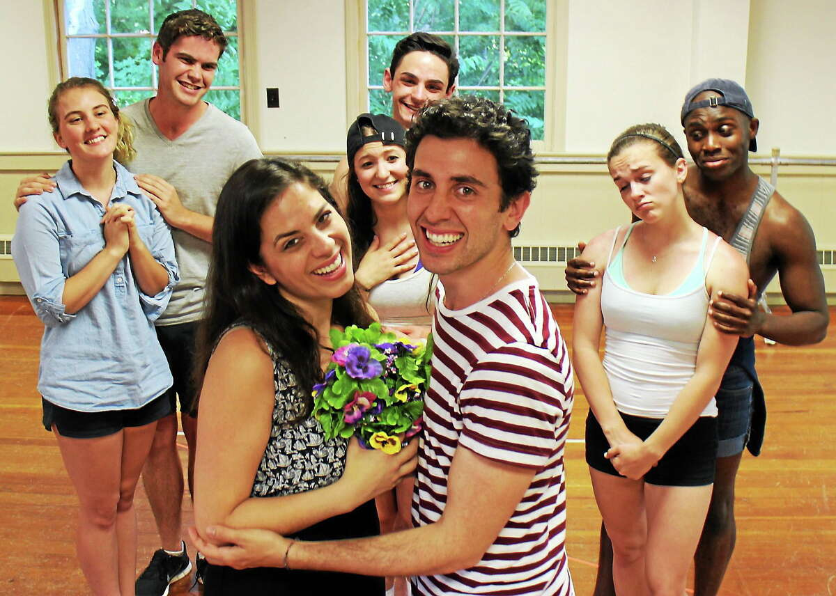 """Mara J. Herman and Nicholas Park rehears for """"All Shook Up."""""""
