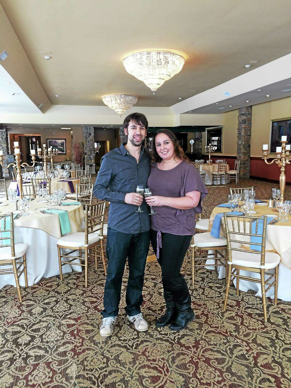 Kelly Rusin and Mark Jalbert are the winners of the grand prize giveaway at St. Clements Castle & Marina. The all-expenses-paid award was given on Feb. 1 at the Portland wedding venue's annual bridal show.