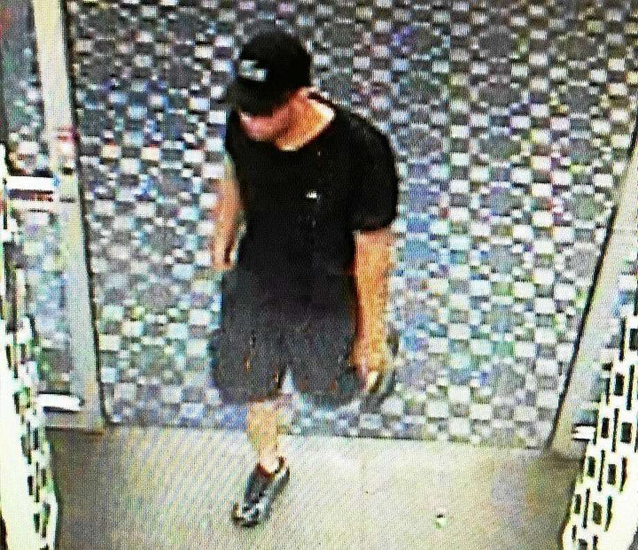Police in Clinton are looking for a man who used a stolen credit card to make more than $2,000 in purchases at stores in Clinton and Waterford. Police said the suspect's vehicle appears to be a white Suzuki Kizashi sedan. Photo: (Photo Courtesy Of The Clinton Police Department)