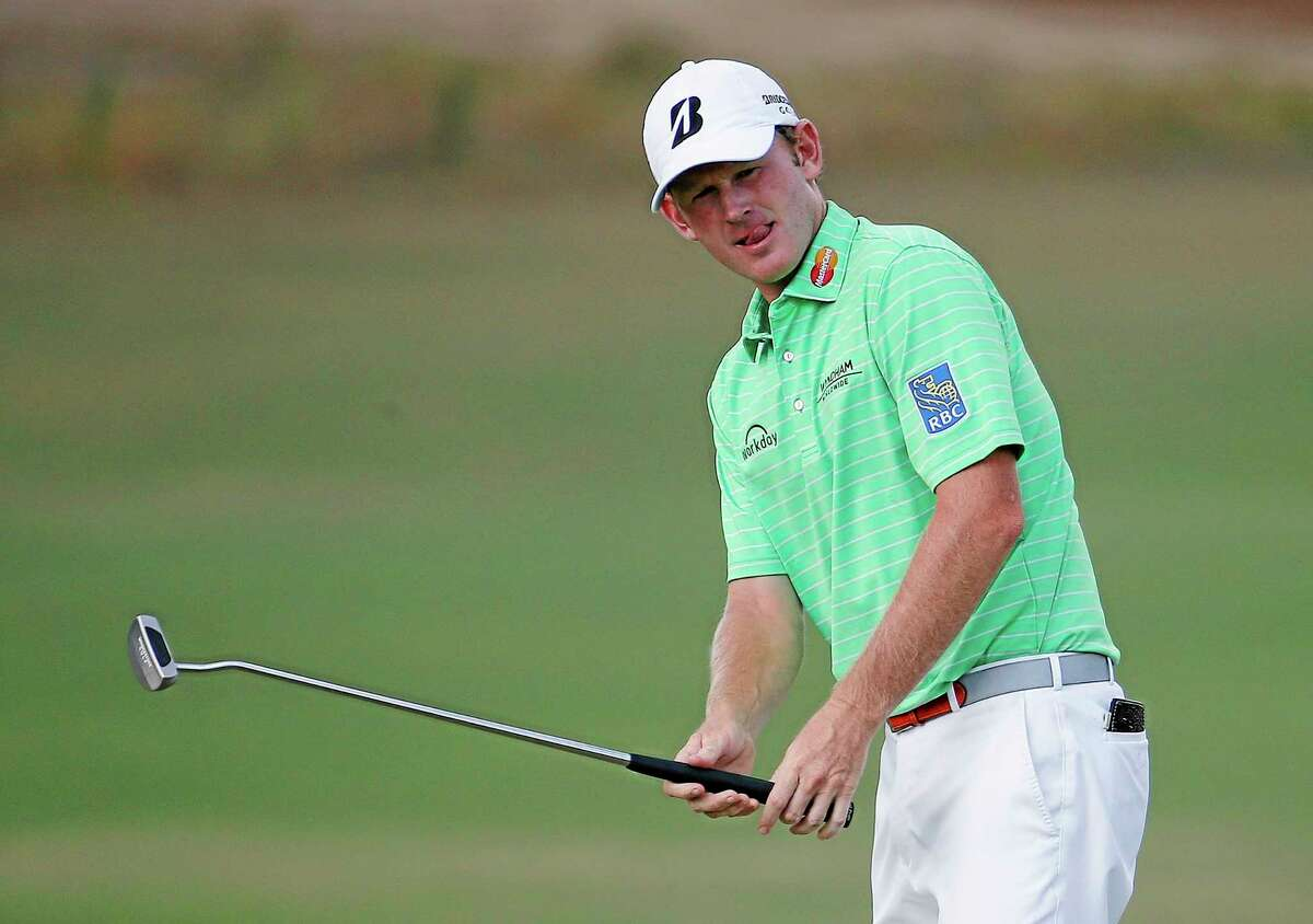 Brandt Snedeker, here reacting after a missed putt during the U.S. Open last week in Pinehurst, N.C., shot a 64 on Sunday to finish 10-under at the Travelers Championship in Cromwell.
