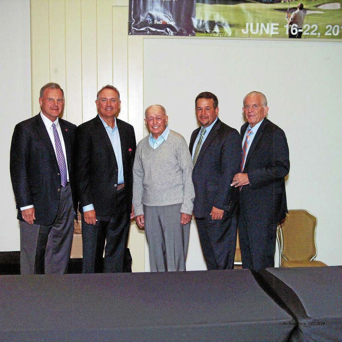 Travelers Companies Executive Vice President and Chief Administrative Officer Andy Bessette, Ken Duke, Bob Toski, Chamber Chairman Rich Carella and Middlesex County Chamber President Larry McHugh.