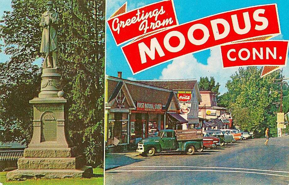 A postcard from the Historical Society Museum collection in East Haddam Photo: Deb Mathiasen