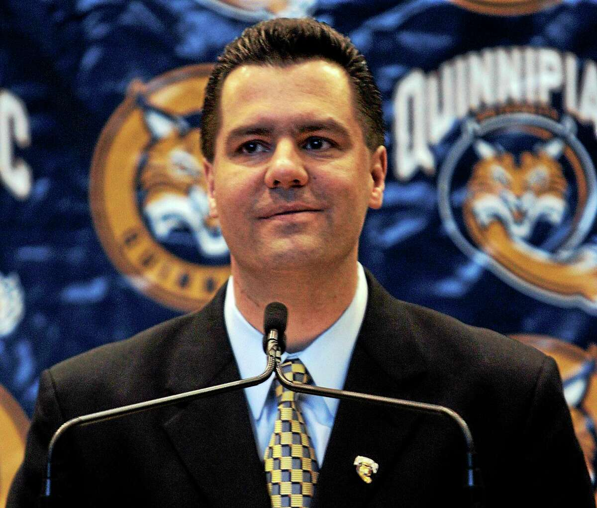 Quinnipiac men's basketball coach Tom Moore