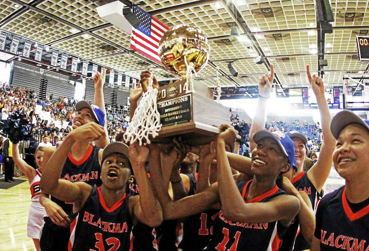 Blackman's Crystal Dangerfield (32) announced on her Twitter account on Sunday that she has committed to UConn.