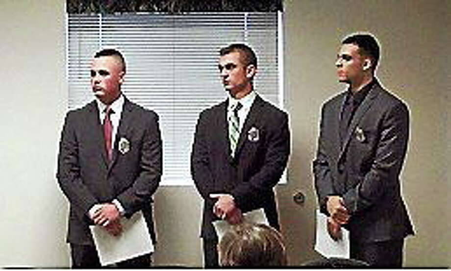 Submitted photo From left, Alex Foster, Jesse Santostefano and Ulyses Alvarez. Photo: Journal Register Co.