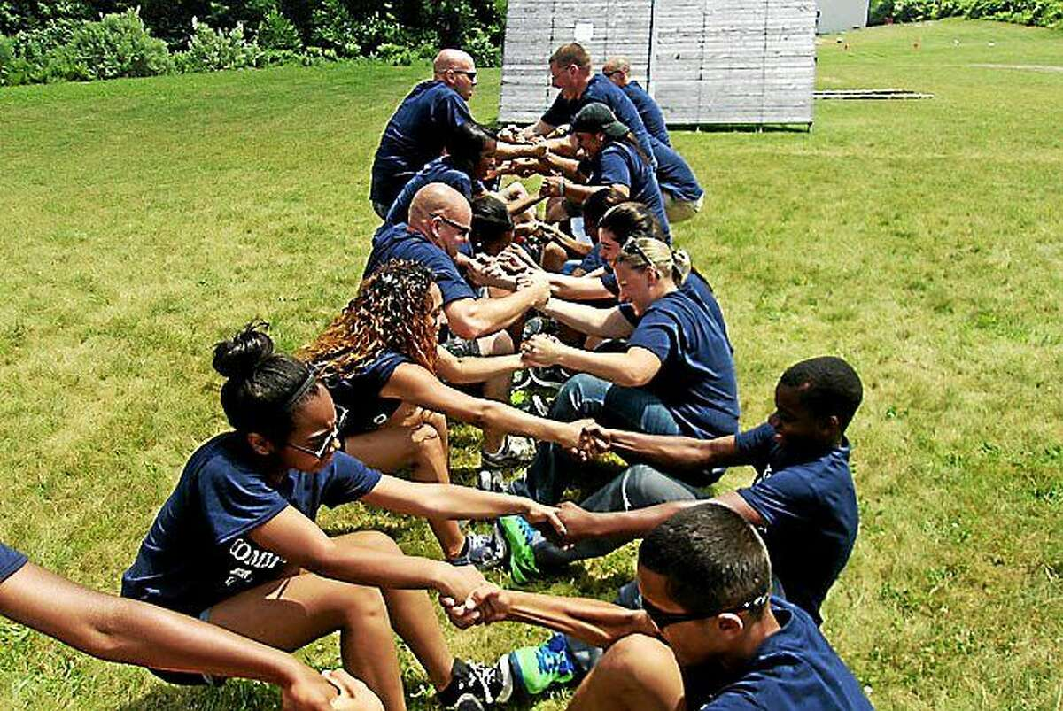 Students engage in a team building exercise with Empower Leadership Sports and Adventure Center through a partnership with Right Response and the Middletown Youth Services Bureau.