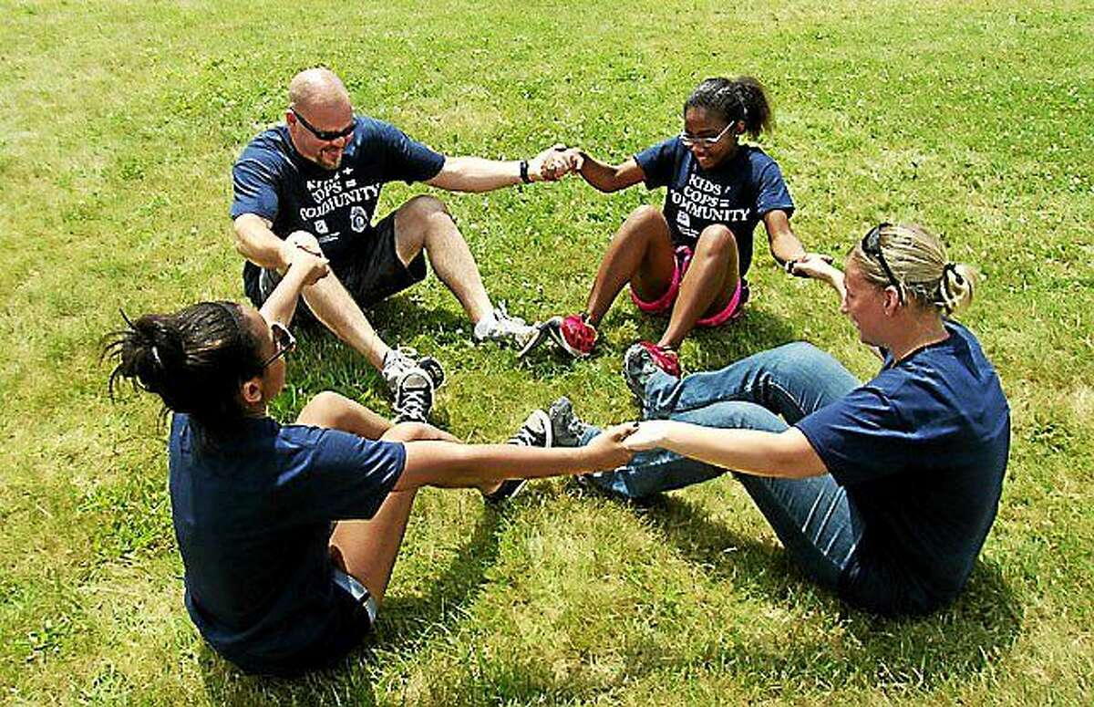 Courtesy Empower Leadership Youth engage in a team building exercise with Empower Leadership Sports and Adventure Center through a partnership with Right Response and the Middletown Youth Services Bureau