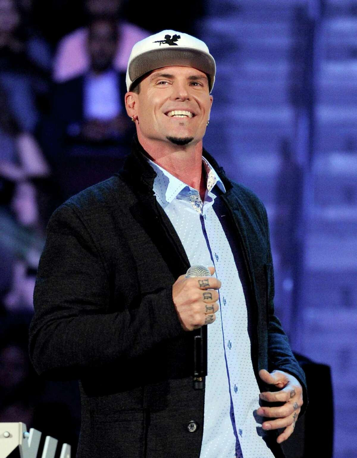 FILE - In this Nov. 8, 2013 file photo, recording Artist Vanilla Ice appears at the 2013 Soul Train Awards at the Orleans Arena in Las Vegas.