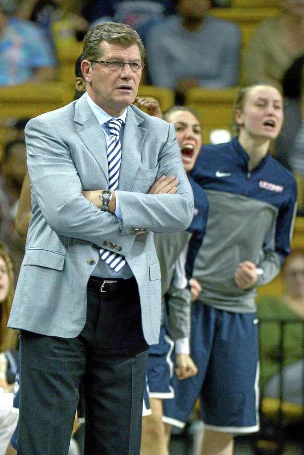 Managing minutes is now the major concern for UConn women's basketball coach Geno Auriemma. Photo: Phelan M. Ebenhack — The Associated Press  / FR121174 AP