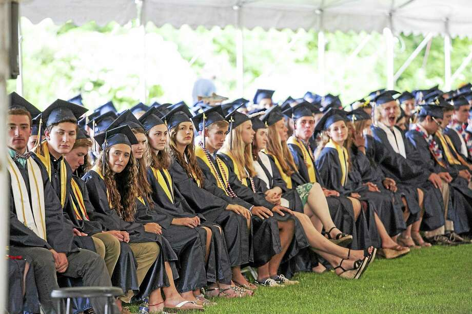 One hundred and sixty-seven Haddam-Killingworth High School seniors marched onto the field June 19 for the 37th annual commencement ceremonies.    Sandy Aldieri - Special to the Press Photo: Journal Register Co. / Perceptions Photographyy