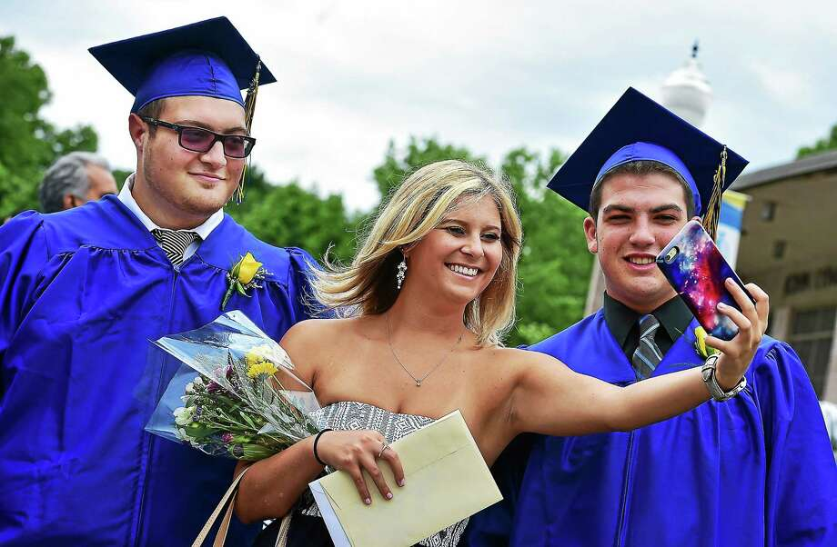 Commencement exercises for the class of 2015 at Middletown's Vinal Technical High School June 20 at the John Lyman Center for the Performing Arts at Southern Connecticut State University in New Haven. Photo: Catherine Avalone — New Haven Register  / Catherine Avalone/New Haven Register
