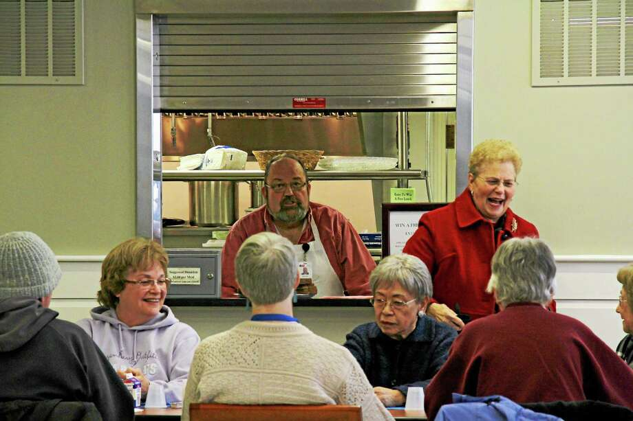 "Visitors to the Middletown Senior and Community Center, a new ""light and airy"" facility at Eckersley-Hall on Durant Terrace, enjoyed a ribbon-cutting ceremony this week. Photo: Kathleen Schassler — Middletown Press  / Kathleen Schassler All Rights"