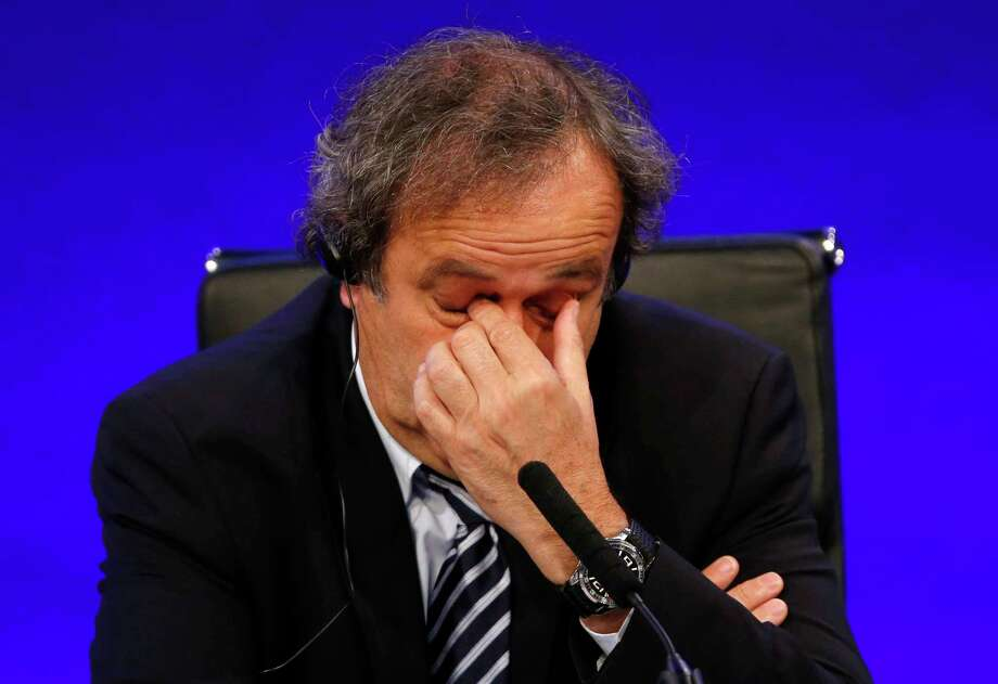 UEFA leaders were meeting Thursday to decide whether to continue backing Michel Platini, with some not yet satisfied by his explanation for a payment that led to his 90-day FIFA suspension. Photo: Sang Tan — The Associated Press File Photo  / AP